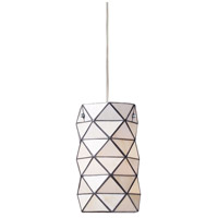 ELK 72021-1 Tetra 1 Light 7 inch Polished Chrome Mini Pendant Ceiling Light in Incandescent