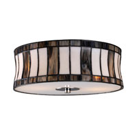 ELK Lighting Delgado 2 Light Flush Mount in Black Chrome 72041-2