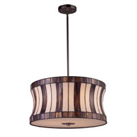 ELK 72043-3 Delgado 3 Light 19 inch Black Chrome Pendant Ceiling Light