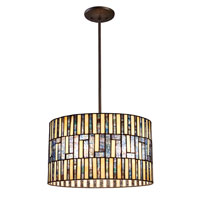 ELK Lighting Ocean Mirage 3 Light Pendant in Dark Bronze 72050-3