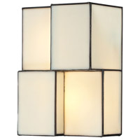 Cubist 2 Light 7 inch Brushed Nickel Wall Sconce Wall Light in Incandescent