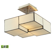 Cubist LED 13 inch Brushed Nickel Semi Flush Mount Ceiling Light