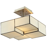 ELK 72061-2 Cubist 2 Light 13 inch Brushed Nickel Semi Flush Mount Ceiling Light in Incandescent