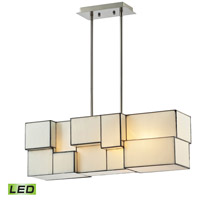 ELK 72063-4-LED Cubist LED 8 inch Brushed Nickel Chandelier Ceiling Light