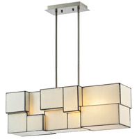 ELK 72063-4 Cubist 4 Light 8 inch Brushed Nickel Chandelier Ceiling Light in Incandescent