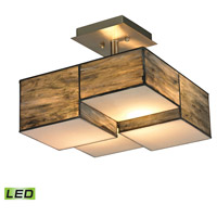 ELK Lighting Cubist LED Semi-Flush Mount in Brushed Nickel 72071-2-LED