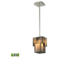 ELK Lighting Cubist LED Pendant in Brushed Nickel 72072-1-LED