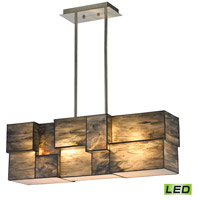 Cubist LED 27 inch Brushed Nickel Chandelier Ceiling Light