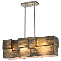 ELK 72073-4 Cubist 4 Light 8 inch Brushed Nickel Chandelier Ceiling Light in Incandescent