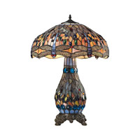 ELK Lighting Dragonfly 3 Light Table Lamp in Dark Bronze 72079-3