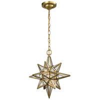 ELK 72154/1 Beamer 1 Light 12 inch Brushed Brass Pendant Ceiling Light