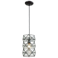 ELK 72221-1 Tetra 1 Light 7 inch Oil Rubbed Bronze Mini Pendant Ceiling Light in Standard