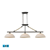 ELK Lighting Natural Rope 3 Light Billiard/Island in Aged Bronze 73045-3-LED