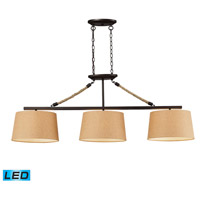 ELK Lighting Natural Rope 3 Light Billiard/Island in Aged Bronze 73046-3-LED