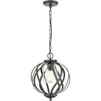 ELK 75094/1 Daisy 12 inch Midnight Bronze Pendant Ceiling Light
