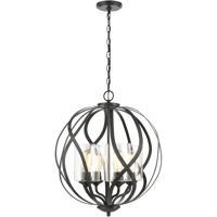 ELK 75095/4 Daisy 20 inch Midnight Bronze Chandelier Ceiling Light