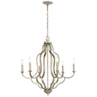 ELK 75106/6 Lanesboro 27 inch Dusted Silver Chandelier Ceiling Light