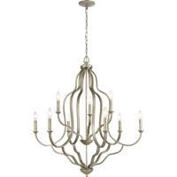 ELK 75107/9 Lanesboro 34 inch Dusted Silver Chandelier Ceiling Light