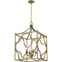 ELK 75126/4 Wembley 19 inch Antique Gold Chandelier Ceiling Light