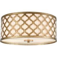 ELK 75134/2 Arabesque 15 inch Bronze Gold Flush Mount Ceiling Light