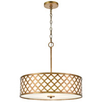 ELK 75137/4 Arabesque 20 inch Bronze Gold Chandelier Ceiling Light