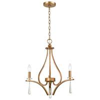 ELK 75146/3 Katania 20 inch Antique Gold Chandelier Ceiling Light