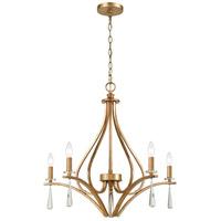 ELK 75147/5 Katania 27 inch Antique Gold Chandelier Ceiling Light