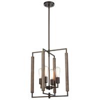 ELK 75160/4 Zinger 16 inch Oil Rubbed Bronze/Aspen Pendant Ceiling Light