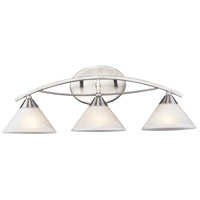 Elysburg 3 Light 25 inch Satin Nickel Vanity Wall Light