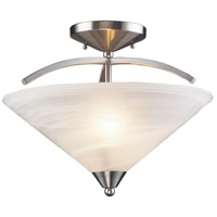 Elysburg 2 Light 16 inch Satin Nickel Semi Flush Mount Ceiling Light
