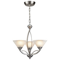 ELK Lighting Elysburg 3 Light Chandelier in Satin Nickel 7635/3