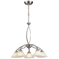 Elysburg 5 Light 25 inch Satin Nickel Chandelier Ceiling Light