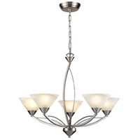 ELK 7637/5 Elysburg 5 Light 28 inch Satin Nickel Chandelier Ceiling Light photo thumbnail