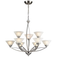 ELK Lighting Elysburg 9 Light Chandelier in Satin Nickel 7638/6+3 photo thumbnail