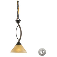 ELK Lighting Elysburg 1 Light Pendant in Aged Bronze 7644/1-LA