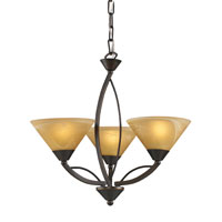 ELK 7645/3 Elysburg 3 Light 20 inch Aged Bronze Chandelier Ceiling Light photo thumbnail