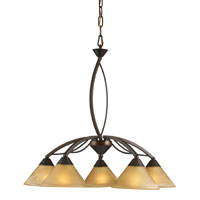 Elysburg 5 Light 25 inch Aged Bronze Chandelier Ceiling Light
