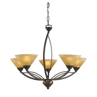 Elysburg 5 Light 28 inch Aged Bronze Chandelier Ceiling Light