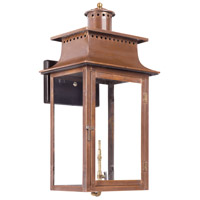Maryville 27 inch Aged Copper Gas Wall Lantern