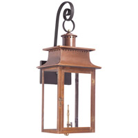 Maryville 34 inch Aged Copper Gas Wall Lantern