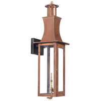 Maryville 29 inch Aged Copper Gas Wall Lantern