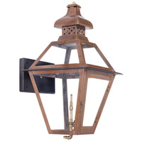 Bayou 23 inch Aged Copper Gas Wall Lantern