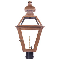 Bayou 26 inch Aged Copper Gas Post Lantern