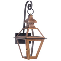 Bayou 30 inch Aged Copper Gas Wall Lantern