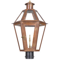 Grande Isle 25 inch Aged Copper Gas Post Lantern