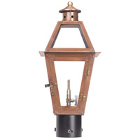 Grande Isle 18 inch Aged Copper Gas Post Lantern