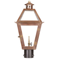 Grande Isle 21 inch Aged Copper Gas Post Lantern