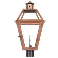 Grande Isle 27 inch Aged Copper Gas Post Lantern