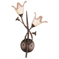 Fioritura 2 Light 10 inch Aged Bronze Sconce Wall Light