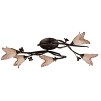 Fioritura 5 Light 27 inch Aged Bronze Flush Mount Ceiling Light